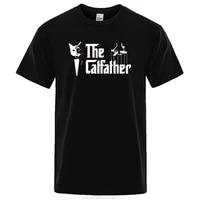 kohpweran cute the catfather cat printing womens tees shirts crewneck clothes casual oversized short sleeve fashion t shirt