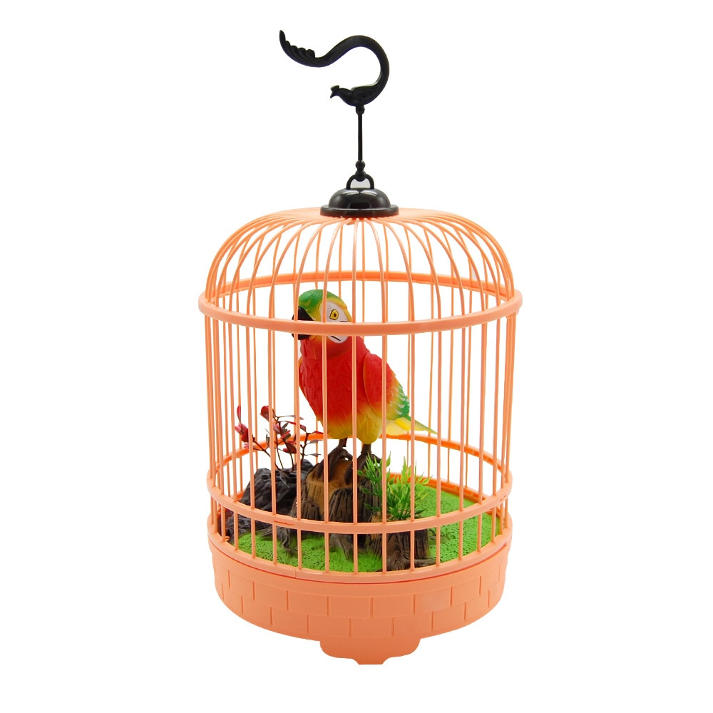 Mini Voice Control Induction Bird Cage Children's Toy Electric Three Birds Voice Simulation Song and Talk enlarge
