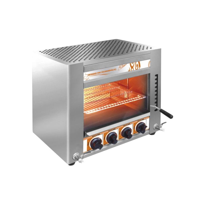 Stainless Steel Rotisserie Oven Chicken Roll Machine Desktop LPG/Natural Gas/Coal Gas Salamander 4 Burners