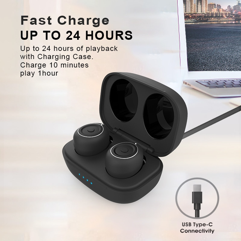 Bluetooth 5.0 Earphones Stereo Wireless Earrings with Chargebox Gaming Headset Sport Waterproof Factory Inventory Clarification enlarge