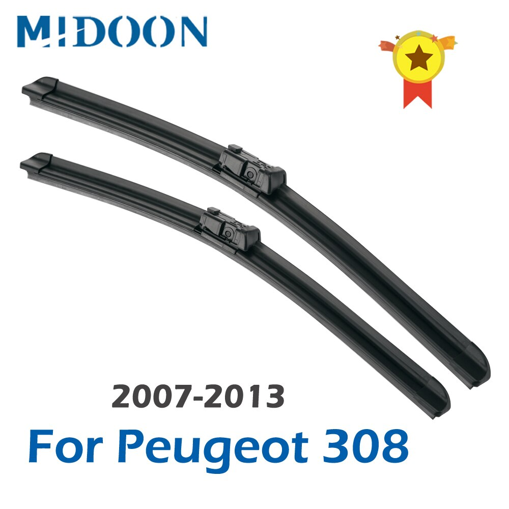 MIDOON стеклоочистителей для Peugeot 308 хэтчбек/SW/CC T7 / T9 2007 2008 2009 2010 2011 2012 2013 2014 2015 2016 2017 2018