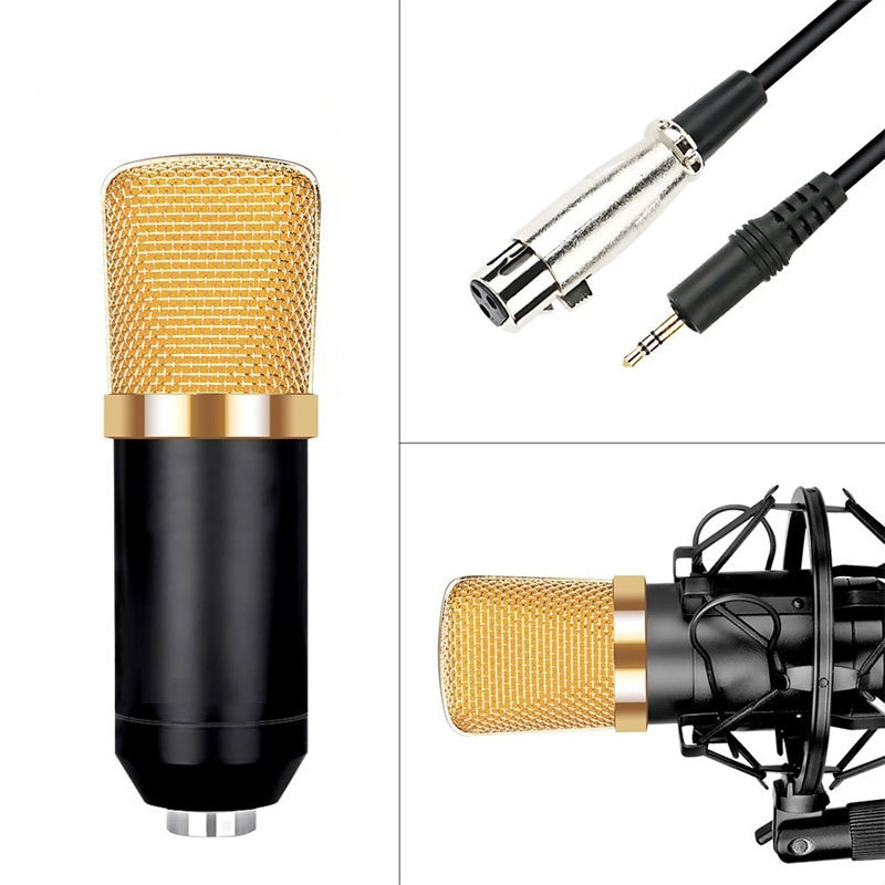 Bm 700 Kit Wired Condenser Microphone With Stand For Computer Studio Recording  Radio Live Broadcast  Karaoke Black Mikrofon enlarge