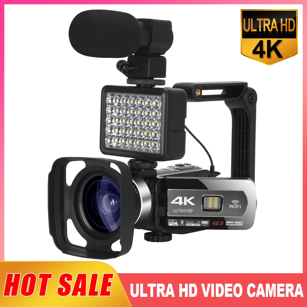 2021 New Release Video Camera Live Streaming WiFi function 48MP Vlogging for Youtube 3.0inch IPS Touch Screen Camcorder