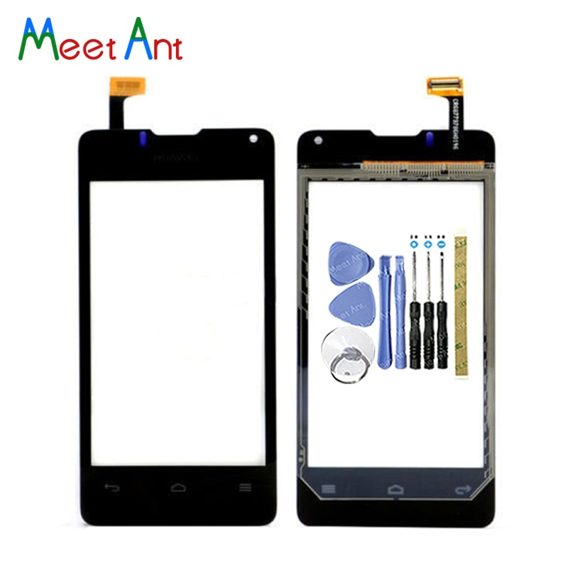 "Alta calidad 4,0 ""para Huawei Ascend Y300 U8833 Sensor de digitalizador de pantalla táctil Panel de lente de vidrio exterior negro blanco"