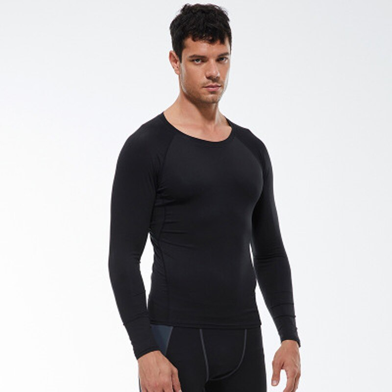 Running Sport T-shirt Compression Fitness T-Shirt Tight Long Sleeve  Training Jogging Shirts Gym Shirt Quick Dry Clothes Men Top