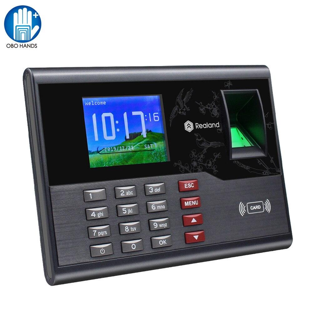 2,8-дюймовый TCP/IP RFID биометрический отпечаток пальца посещаемость времени машина система печать пальцев USB электронный сотрудник регистраци...