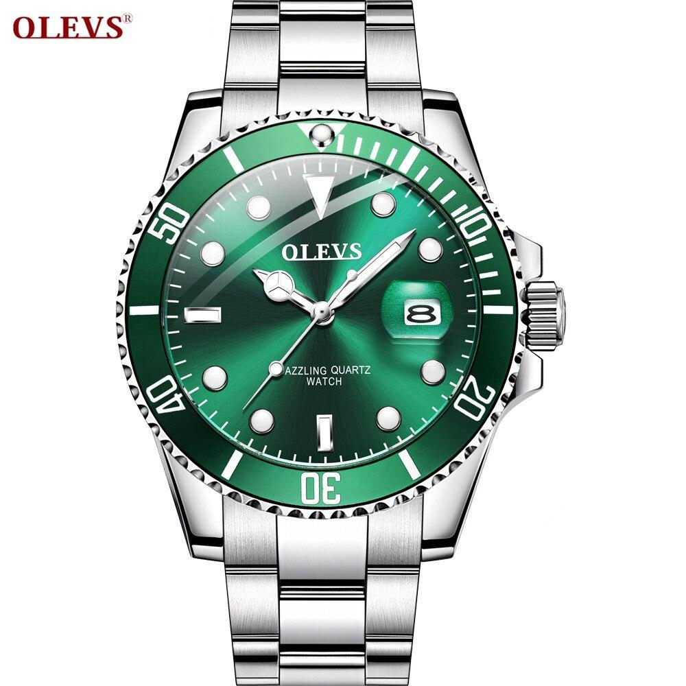 OLEVS reloj de lujo para hombre, reloj deportivo, reloj inteligente para hombre, reloj de cuarzo, reloj luminoso impermeable para hombre, regalo de cumpleaños