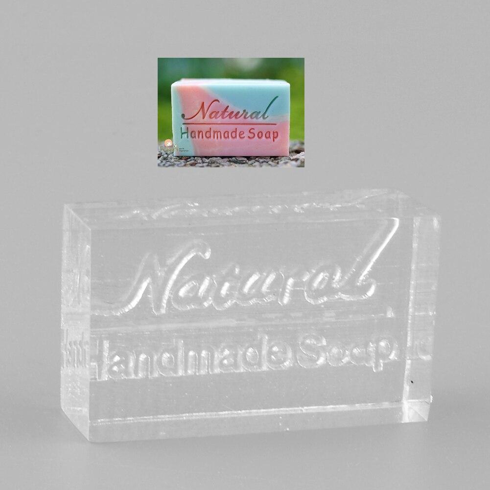 Jabón hecho a mano de palabra acrílica Natural sello molde artesanal DIY