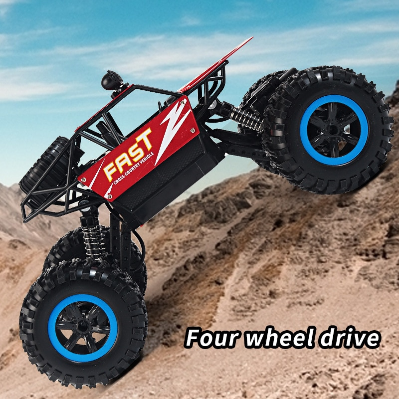 2.4G Portable Wireless Charging Remote Control Vehicle 4WD Off-road Alloy Climbing Vehicle Children's Gift Model Toy enlarge