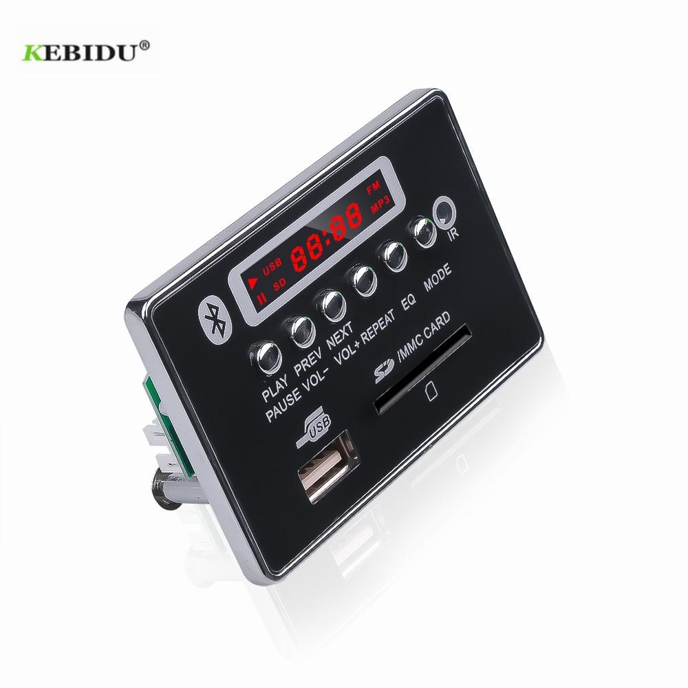 MP3 placa decodificadora wma MP3 coches reproductor de Audio USB TF FM módulo de Radio Bluetooth inalámbrico 5V 12V Control remoto para accesorios de coche