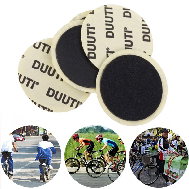 10 Uds., 25mm, neumático interior de bicicleta, parche adhesivo sin pegamento para bicicleta, herramienta de reparación de goma, accesorio para bicicleta de carretera, bicicleta de montaña
