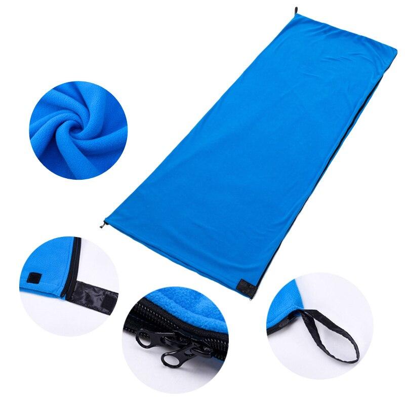 Bolsa de dormir de lana Vertvie bolsa de dormir portátil al aire libre Camping viaje cálido ultraligero saco de dormir forro accesorios de Camping
