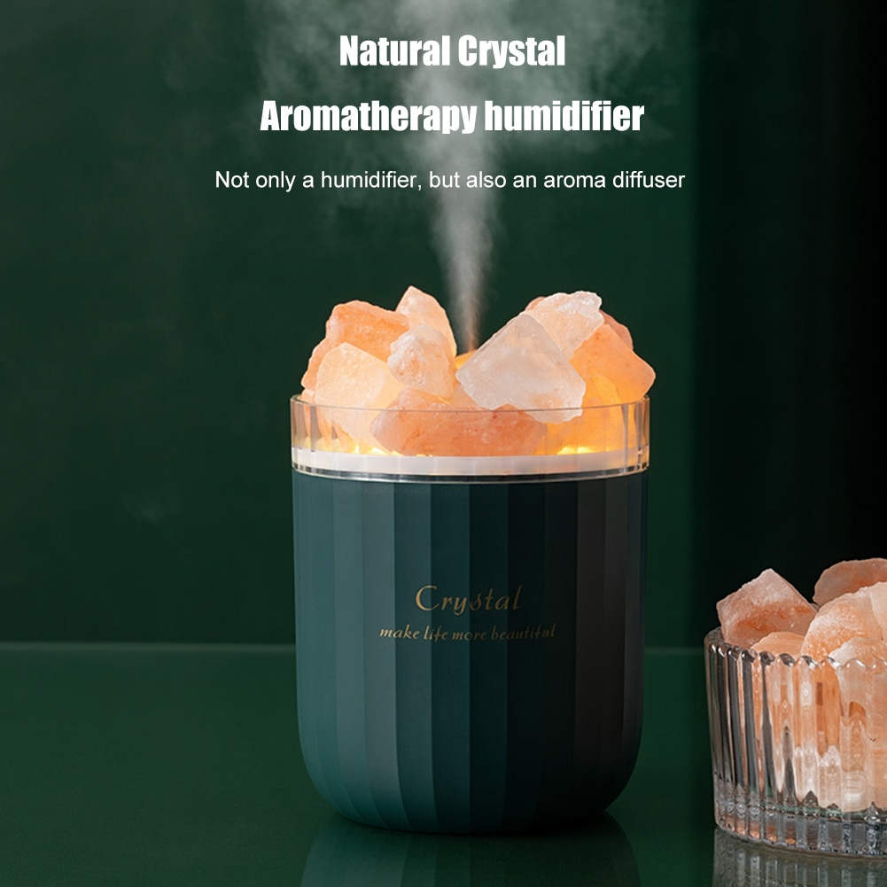 AliExpress - Portable Crystal Aromatheraphy Humidifier Wireless Aroma Essential Oil Diffuser LED Light Himalayan Salt Cool Mist Humidifier