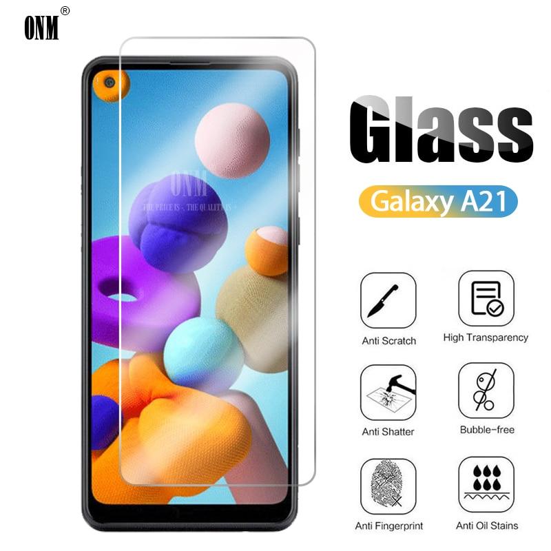 10 pçs vidro temperado para samsung galaxy a21 protetor de tela para samsung galaxy a21 película de vidro protetora