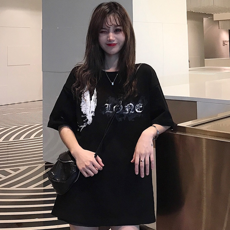 Camisetas vintage hip-hop para mujer, de manga corta con mariposas, Harajuku para mujer sexys, talla grande de estilo coreano, ropa de calle para chica