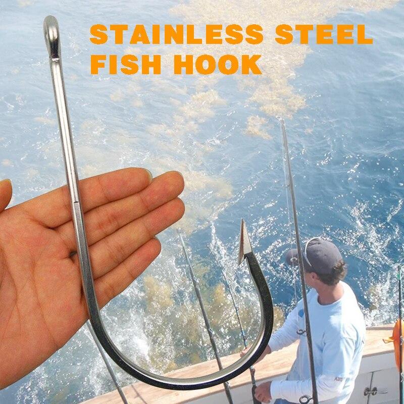 1pc 7731 Stainless Steel Super Large shark Fishing Hooks Big Game Fish Tuna Bait Lightweight Extra Big Fishing Hook Size 20/0