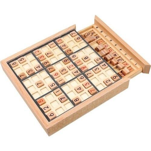 Sudoku Game Wooden Sudoku Game Drawers Wooden Boxed Family Game Math Intelligence Developer sudoku notepad easy to medium