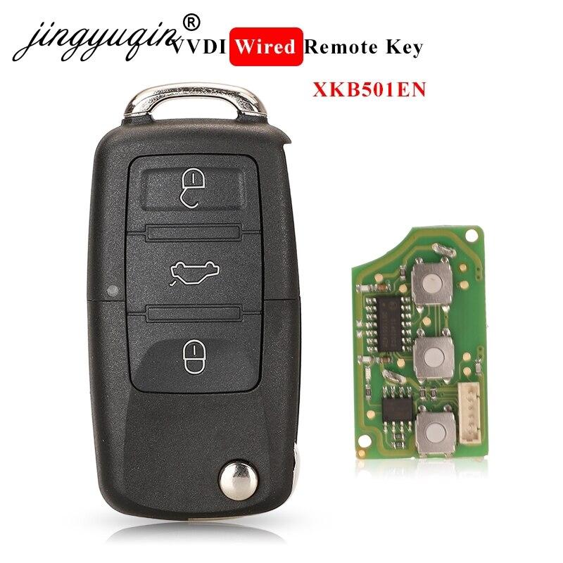 Jingyuqin Xhorse XKB501EN für V W B5 Typ 3 Tasten Verdrahtete Universal Remote Key X001 01 für VVDI Schlüssel Werkzeug Autoschlüssel    -
