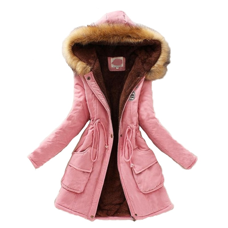 new mens long parka hooded thick warm cotton padded coat solid winter clothing size m 6xl t130 2021 ladies coat parka coat female large size long-sleeved thick warm clothing new 16-color hooded cotton coat