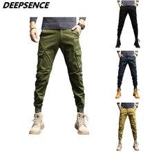 Men Casual Pants 2021 New Cargo Pants Men 95% Cotton Fashion Pockets Portable Trousers Elastic Leg O