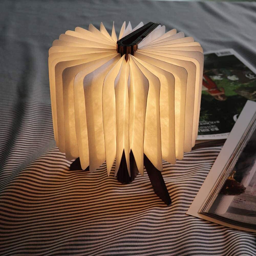 Mini R شكل كتاب مصباح الخشب طوي LED أضواء ليلية USB قابلة للشحن للأطفال غرف ديكور الإبداعية هدية داخلي الجدول مصباح