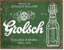 Grolsch Bier Excellence Tin Teken