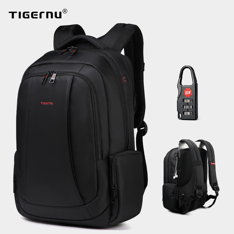 Anti-diefstal nylon rugzak 27L heren 15,6 inch laptop rugzakken school mode reizen backpacken rugzak mannelijke rugzak voor laptop