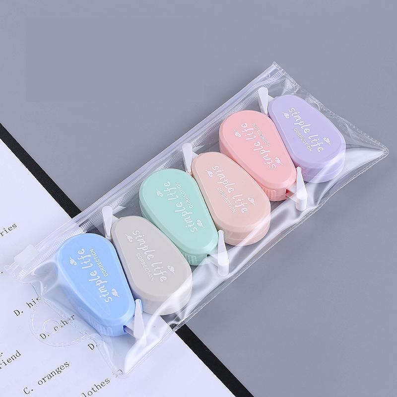 6pcs/set Mini Morandi Color Correction Tape Set School Supplies Back To School Stationery Office Sup