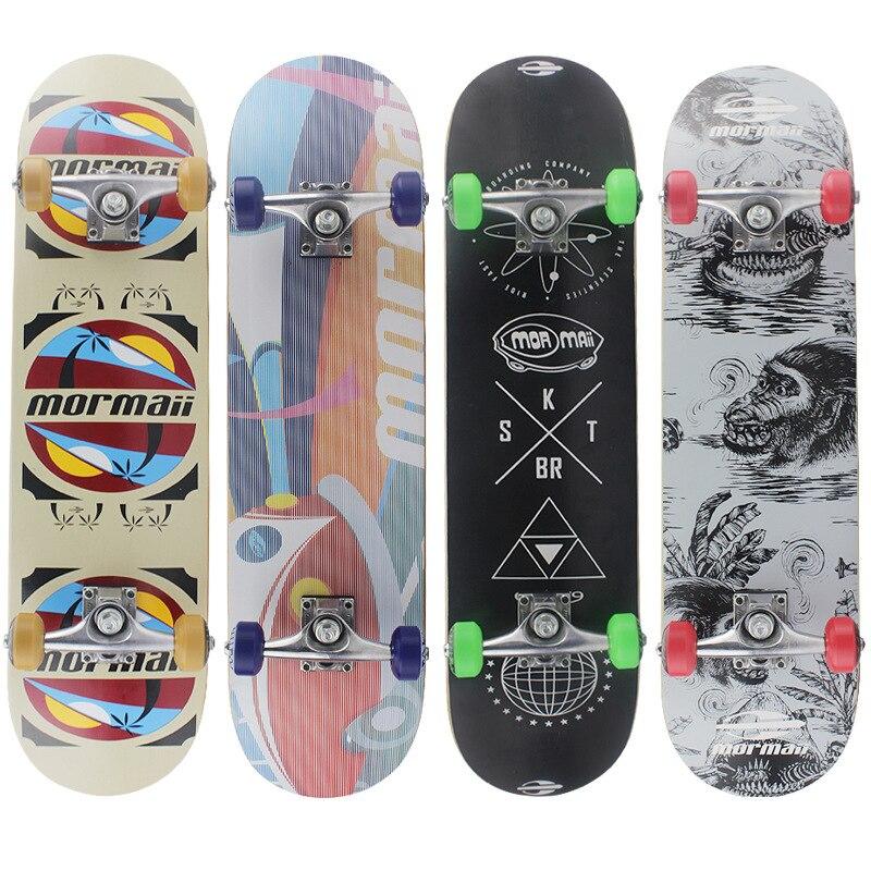 Профессиональный кленовый скейтборд модный для начинающих скутер фристайл скейтборд для детей Rullebrett развлечения BY50HB