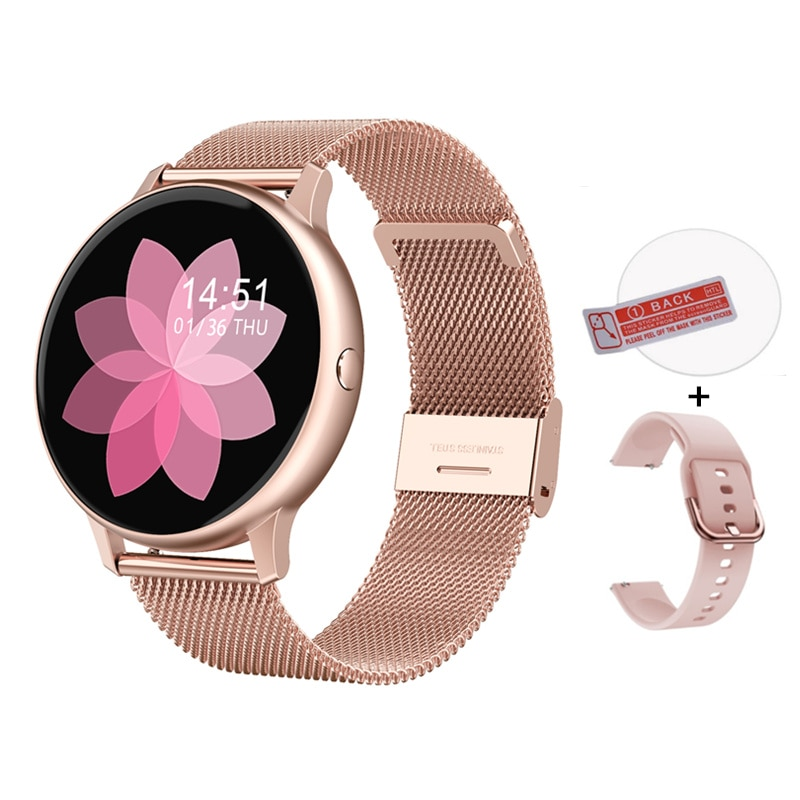 Women's Smart Watch ECG Blood Pressure Oxygen Call Whatsapp Reminder Activity Tracker IP67 Waterproof Smartwatch for Samsung IOS