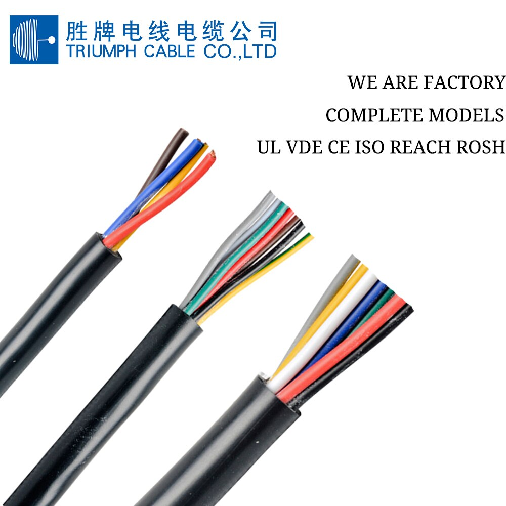TRIUMPHCABLE-cable eléctrico de cobre trenzado, cable flexible de 500v, 10m, rvv0.5 mm,...