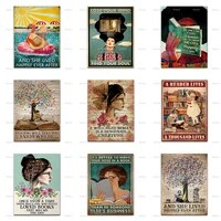 ronce upon a time there was a girl who really loved books posterhome decor canvas wall art prints book art book lover gift