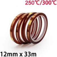 12mm x 33m 3d printer parts high temperature resistant heat bga kapton polyimide insulating thermal insulation adhesive tape