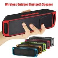 portable wireless bluetooth speaker outdoors subwoofer soundbar loudspeaker