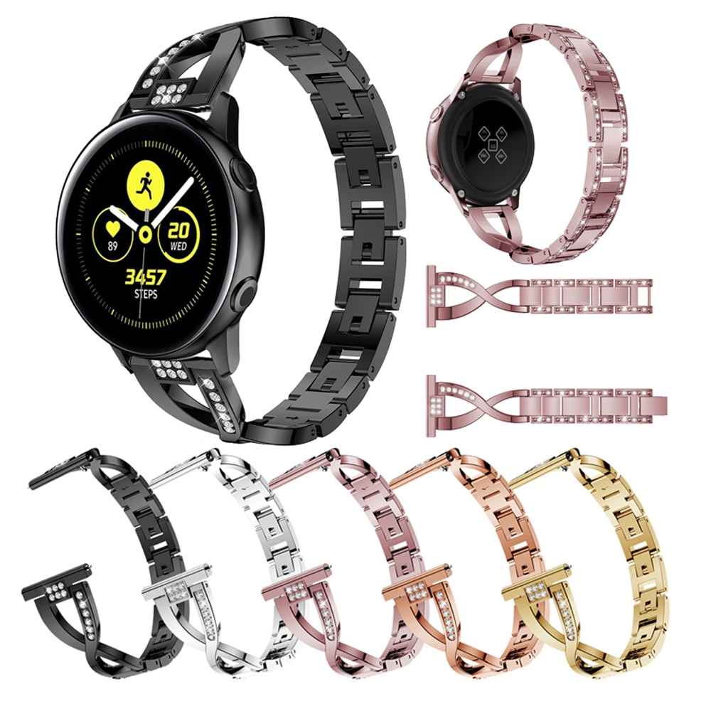 20mm Stainless Steel watch Strap for Samsung galaxy Watch Active 42mm /s2 /s4 smart wristband Metal