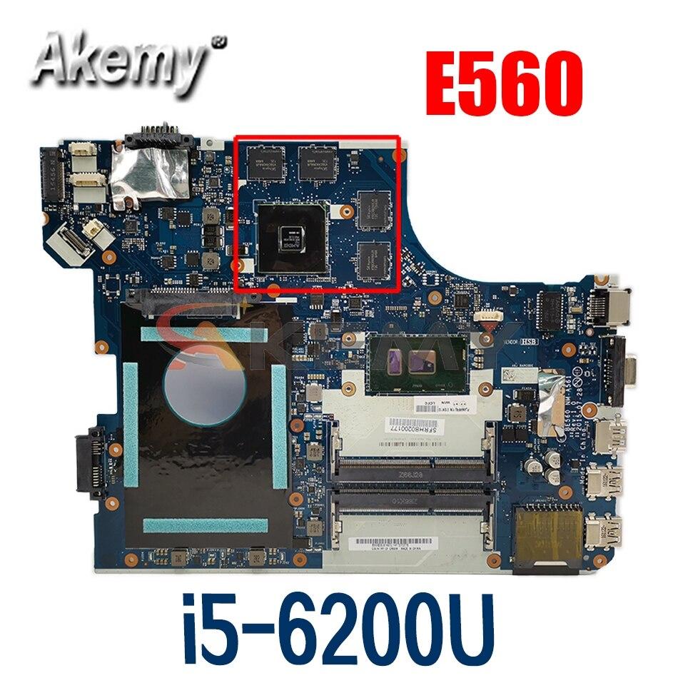 اللوحة لابتوب لينوفو ثينك باد E560 i5-6200U اللوحة NM-A561 01AW109 SR2EY 216-0868000 DDR3