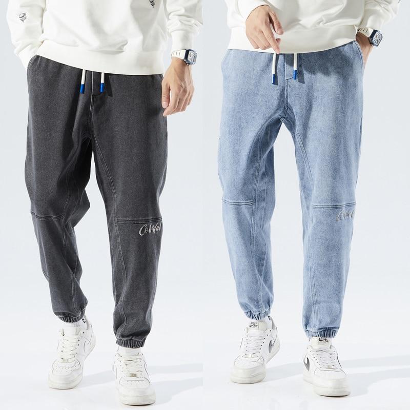 Мужские теплые джинсы с флисовой подкладкой, универсальные повседневные уличные джинсовые брюки в стиле хип-хоп, толстые синие джинсы, нови...
