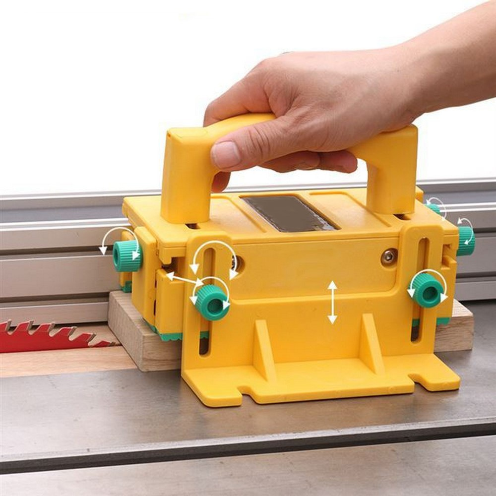 Fácil de fijar la tabla de operar 3D DE SEGURIDAD DE MADERA empujar la manija boca abajo Sierra banda Sierra de carpintería empujar la regla de seguridad protección de trabajo