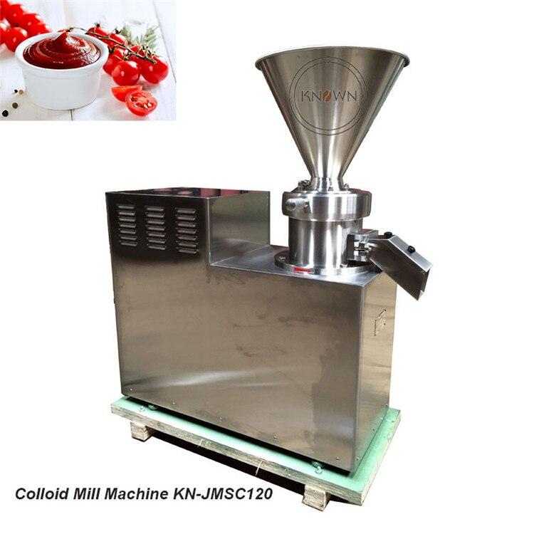 Trituradora automática de Almon, molienda de materia prima, cacahuete, sésamo, pasta de coco, mostaza, mermelada, mantequilla, fabricante de molinillo coloide