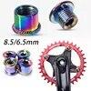 KRSEC 4/5PC 자전거 크랭크 볼트 6.5/8.5mm 치과 용 플레이트 나사 강철 다채로운 체인 링 볼트 MTB Accesorios for Shimano Crankset
