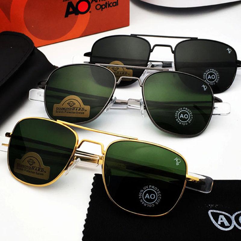 Aviation Sunglasses Men 2019 American Army Military Optical AO Sun Glasses driving glasses Oculos de