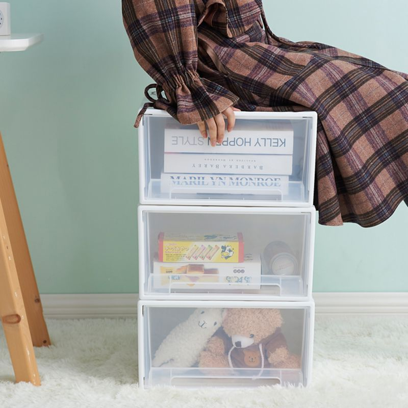 Organizador de armazenamento de gaveta de armazenamento empilhável para roupas organizador de maquiagem 37*25*13 cm brinquedo organizador caixa de plástico caixas de armazenamento
