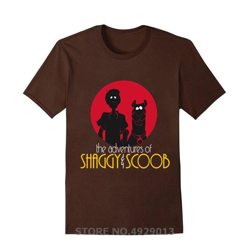 NOVEDAD DE VERANO 2020, camiseta de manga corta para hombre con dibujos animados de Anime Adventures of Shaggy y Scooby Doo