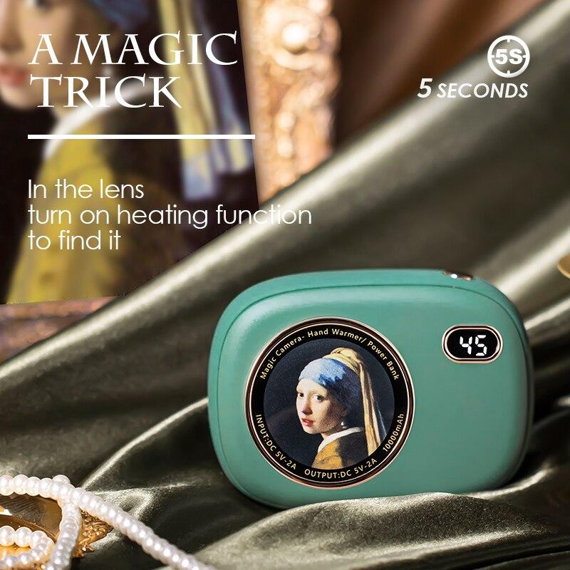 ZHIANYI 2020 Winter New Retro Usb Color Changing Creative Magic Camera Hand Warmer enlarge