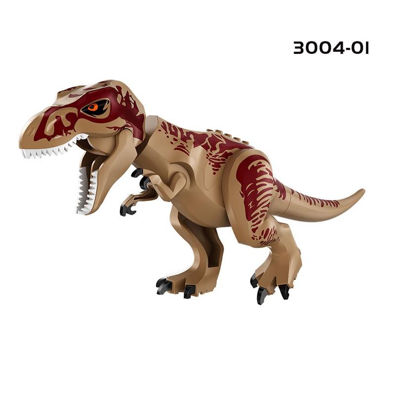 Купить с кэшбэком Jurassic Brutal Raptor Building Blocks Compatible With Block Dinosaur Bricks Tyrannosaurus Indominus I-Rex Assemble Toy