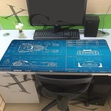 XGZ Cool Car Map Custom Large Game Mouse Pad Black Locking Edge Computer Table Mat Non-slip Personality Coaster Carpet Xxl