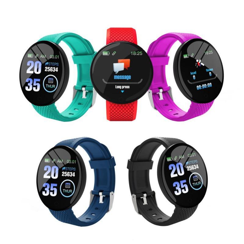 Умные часы D18 для мужчин и женщин, умные часы с тонометром, спортивный трекер, шагомер, умные часы для Android, IOS, умные часы