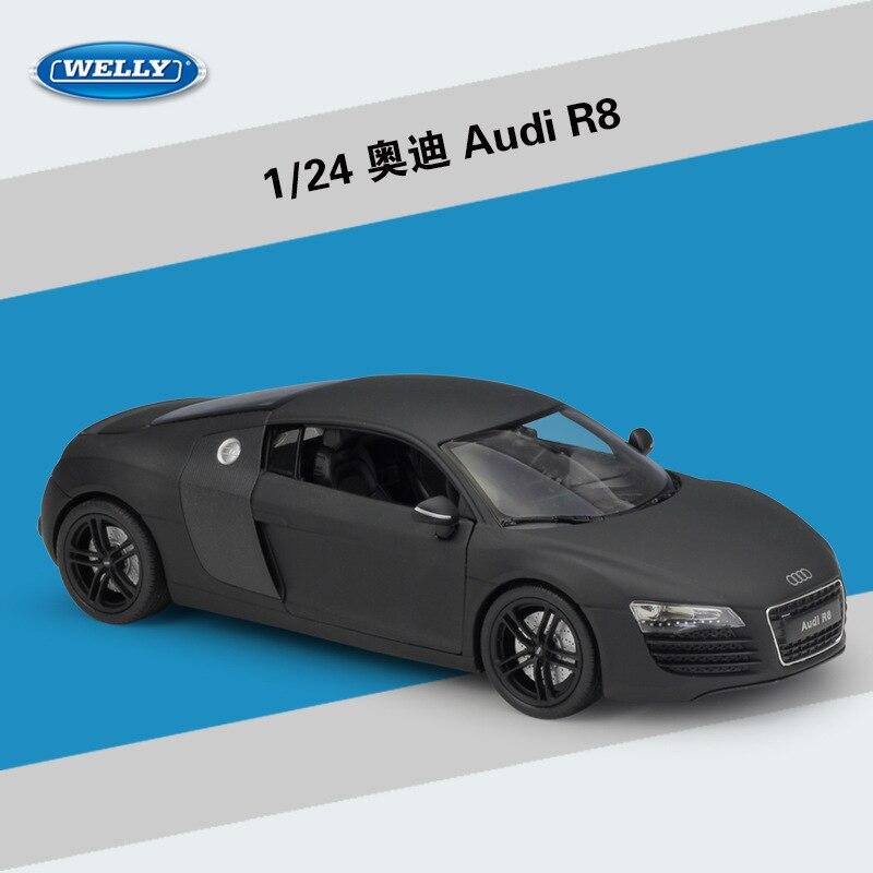 Welly 1:24 Audi R8 Сплав модель автомобиля Diecasts & Toy транспортные средства собирать подарки без дистанционного управления тип транспорта игрушка