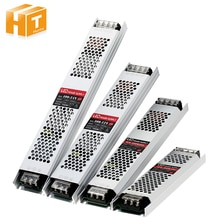 울트라 얇은 LED 전원 공급 장치 DC 12V 24V 조명 트랜스 포 머 LED 스트립에 대 한 60W 100W 150W 200W 300W 400W AC190-240V 드라이버