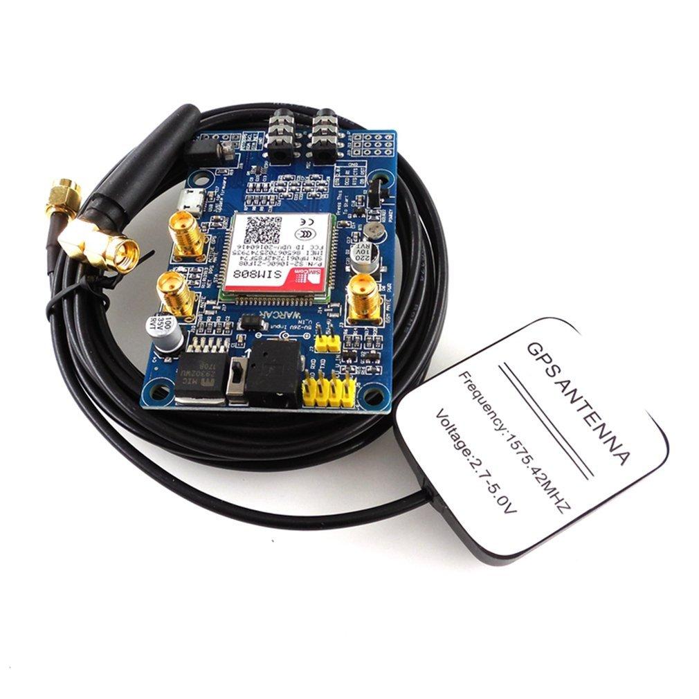 SIM808 módulo GSM GPRS GPS Placa de desarrollo IPX SMA con GPS aéreo para Raspberry Pi STM32 51MCU soporte de voz